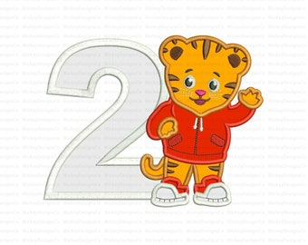 2nd Birthday Daniel Tiger Neighborhood Applique Design Instant Download