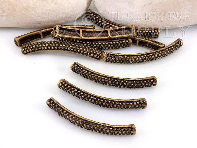 Bracelet Bead Tube Bead Bar Connector Bar Necklace Bracelet Finding Bronze Curve Tube Beading Tube Tube Spacer Curved Bar Bracelet