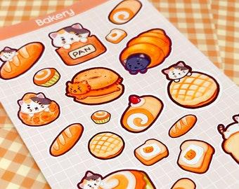 Sticker Sheet Cute, Bakery Theme, Journal Stickers, Planner Stickers