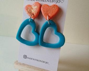 Grá Polymer Clay Earrings ︱Love︱Heart︱Handmade