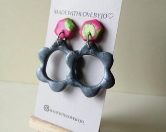 Bloom Polymer Clay Earrings︱Flower︱Handmade︱Summer︱Autumn