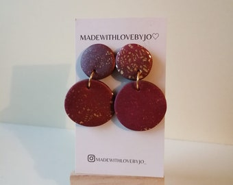 Willow Polymer Clay Earrings︱Handmade︱Marble︱Autumn