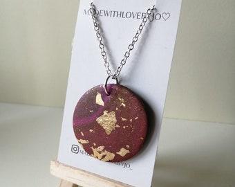 Polymer Clay Necklace︱Handmade︱Autumn