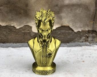 """Joker Action Figure 3D Printed Bronze DC Comics Bust Statue Supervillain 4.5"""""""