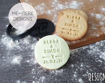 Biscuit stamp   Wedding   personalised   Cookies   Name     a guest gift Engagement   Baking