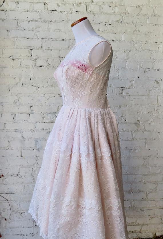 1950's Pink Cocktail Dress. - image 7