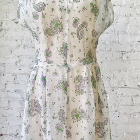 1950s Sheer Crepe Chiffon Day Dress - image 3