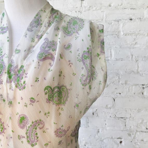 1950s Sheer Crepe Chiffon Day Dress - image 6
