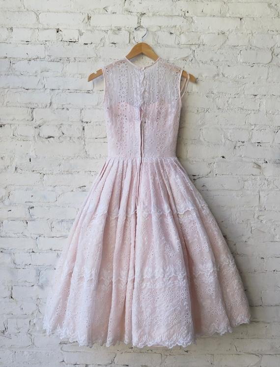 1950's Pink Cocktail Dress. - image 10