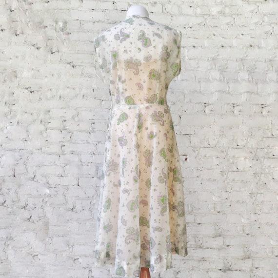 1950s Sheer Crepe Chiffon Day Dress - image 7