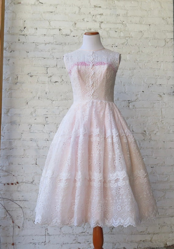 1950's Pink Cocktail Dress.