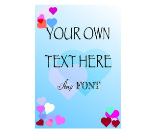 Snow Personalised Your own wording text Quote A4 A5 Poem letter Sign Print