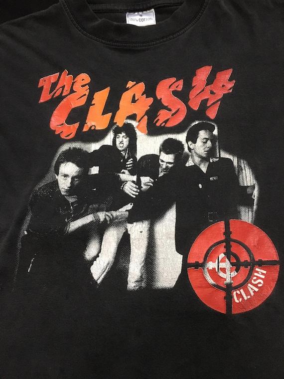 Vintage 80s 90s The Clash shirt punk British Long