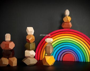 Magic Box: Classic Rainbow & Tumi Ishi Wooden Balancing Stones