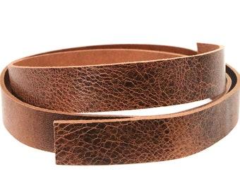 Buffalo Hide Belt Strip Vintage Chocolate