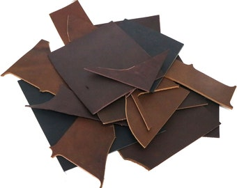 off cuts Scrap Leather Pieces brown Mixed Colours rainbow 230 grams 12 lb tan 8 oz remnants Scrap bag
