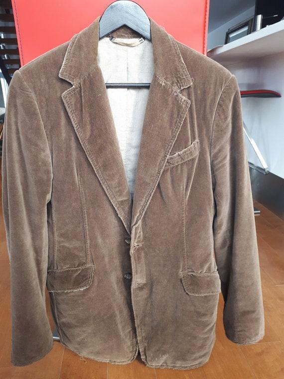 Men's Vintage Dolce and Gabbana jacket in brown ve