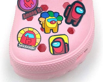 5 PCS Among Us Game Toy Designer Cheap Custom Amoung Soft PVC Cartoon Croc Shoe Charm Crewmate Among Us for Shoe Decorations