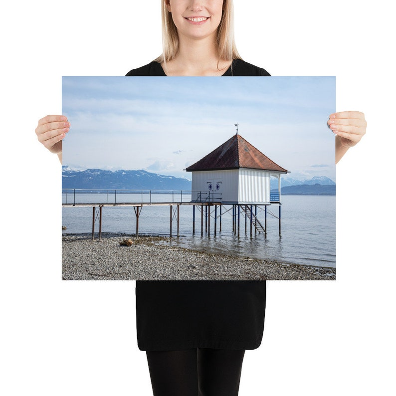Photography poster in size 18x24 inches. The lonely jetty in image 0