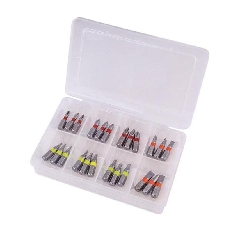 PH0 SL6 PH2 T20 T15 SL4 PH1 - 25 mm with Colorbring T10 24-pcs S2 Bit Set