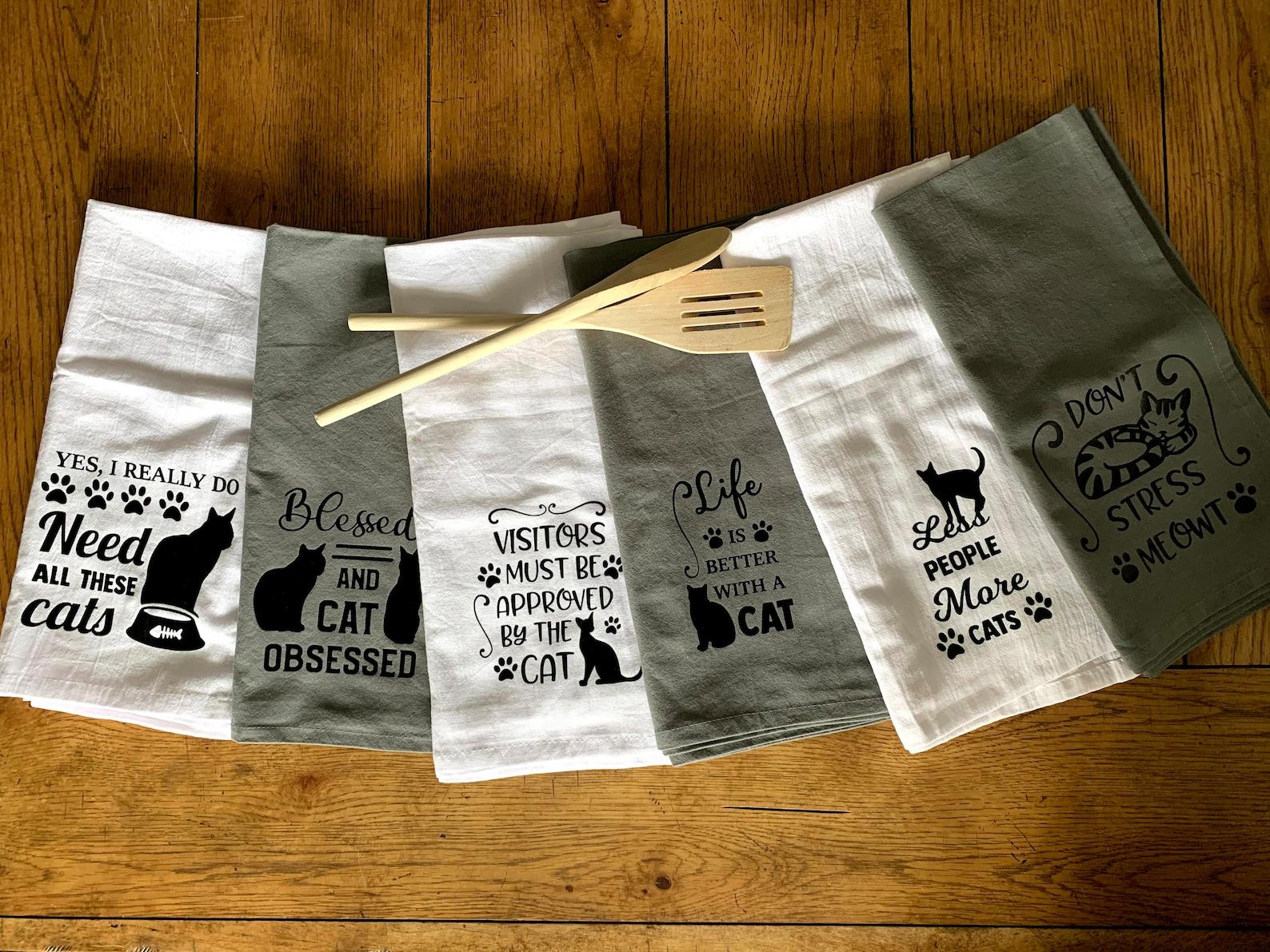 Cat Lover Kitchen Towels