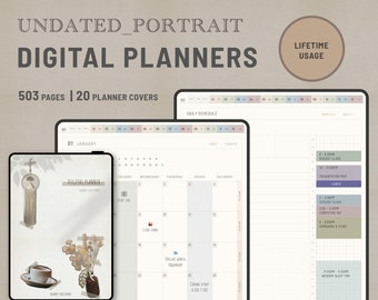 ACHIEVE – Portrait Undated Digital  Diary PDF –Lifetime usage -for GoodNote / NoteShelf / Samsung Note
