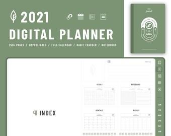 JRNL – 2021 Digital Diary PDF ( Light mode_9 colors ) for GoodNote / NoteShelf / Samsung Note
