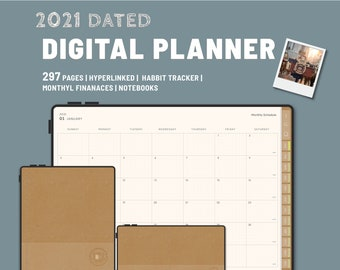 MY2021DIARY - Digital Planner 2021 - GoodNotes and Notability Templates, Hyperlinked PDF