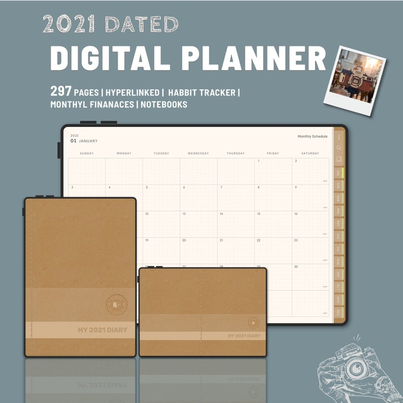 MY2021DIARY  Digital Planner 2021  GoodNotes and Notability image 0