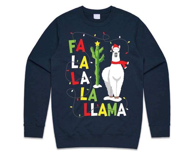 7. Fa La Llama Christmas Sweatshirt
