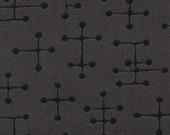 2.25 yards Maharam Small Dot by Charles and Ray Eames Charcoal Gray Upholstery Fabric