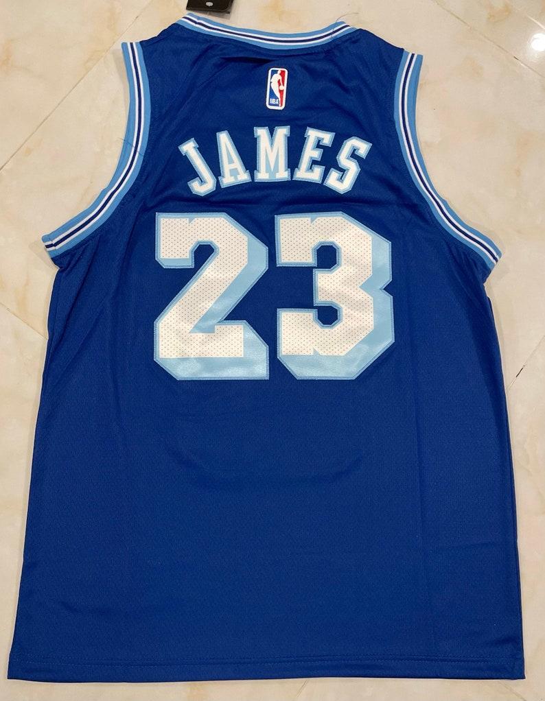 Los Angeles Lakers #23 LeBron James Blue Men's Jersey S-2XL Men's ...