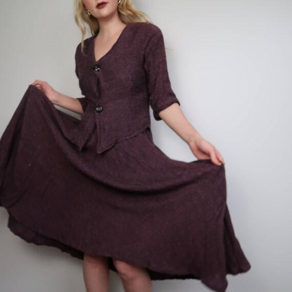 Vintage 90's knit skirt set