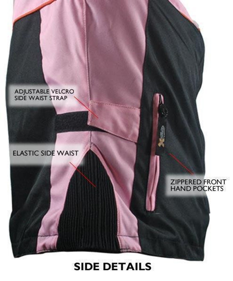 Xelement CF462 Women/'s/' Pinky/' Black and Pink Tri-Tex Motorcycle Jacket with X-Armor Protection