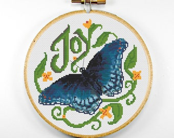 CHART/PATTERN Blue Limenitis Butterfly Joy