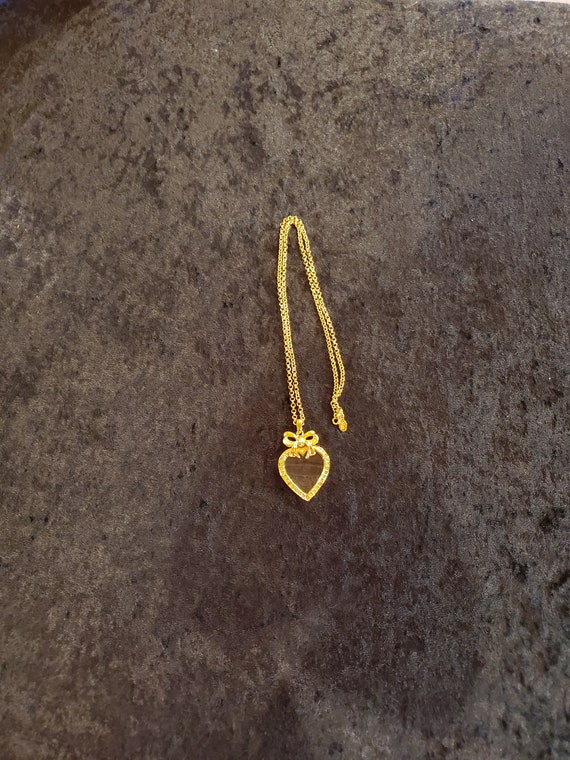 Joan Rivers Rhinestone Heart Pendant/ Magnifying G