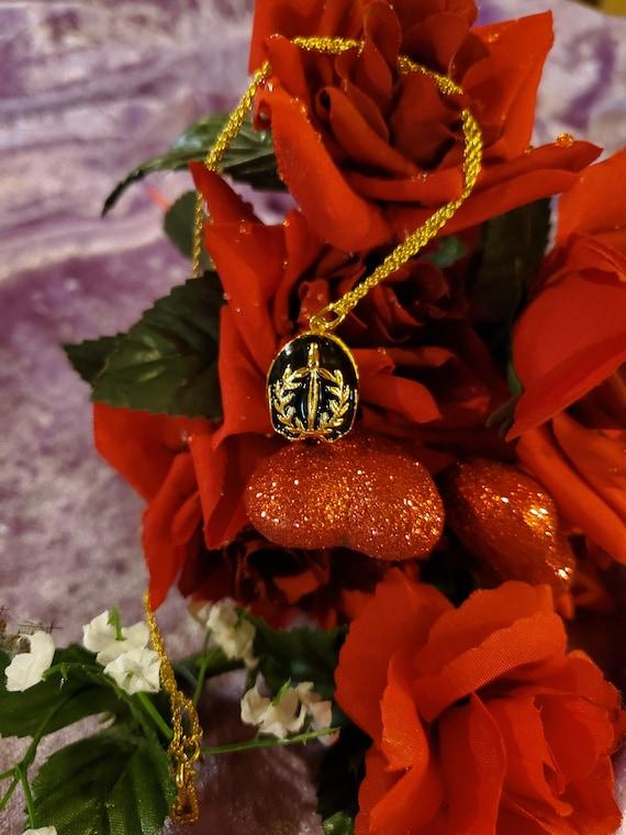 Joan Rivers Faberge Eggs Pendant Necklace/ Vintage