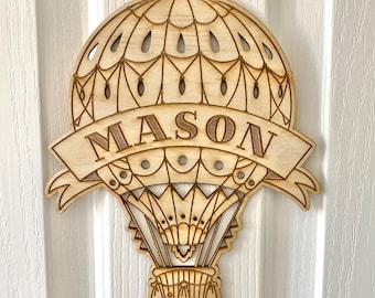 Hot Air Balloon name sign