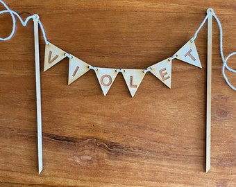 Cake Topper wooden bunting