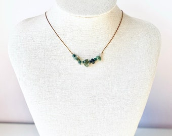 New Beginnings, Moss Agate Necklace, Intention Necklace, New Beginnings Gift