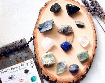 Mercury Retrograde Crystal Set, mercury retrograde protection, protection crystals, healing crystals, crystal gift set