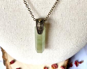 Green Aventurine Talisman Necklace, Aventurine Pendant, Gemstone Necklace, Stone Pendant, Natural Stone Necklace, Green Aventurine Jewelry