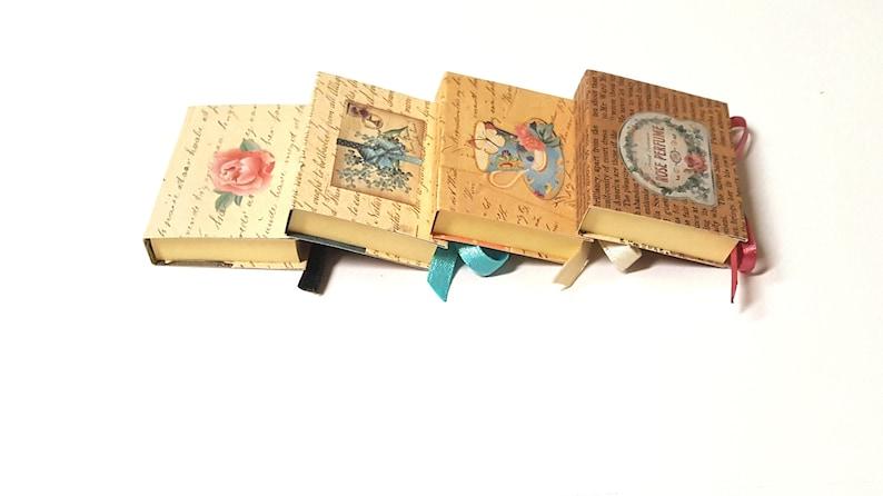 Vintage Victorian Style Mini Sticky Note Holders Vintage Book Favors Edwardian Style Miniature Notepad Vintage Old Book Style Favors