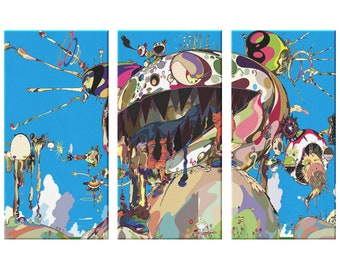 TAKASHI MURAKAMI CANVAS ART PRINT 20X30 INCH VERY LARGE FRAMED HD CANVAS