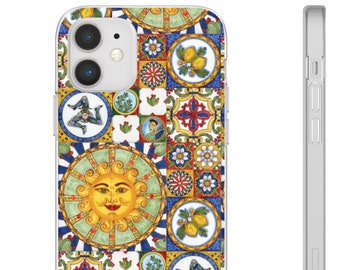 Italian Sicilian/Piastrelle/ Maiolica/ Baroque Sun Phone Case iPhone & Android