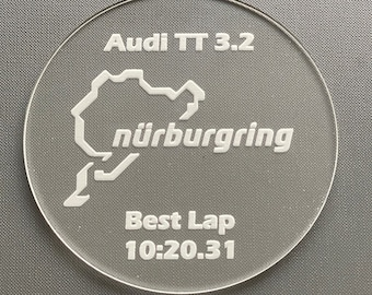 Nurburgring Coaster, can be Personalised, Nürburgring Nordschleife Racing Circuit, Formula 1 Gift, F1 Race Circuit, Gift for Him, Need Speed