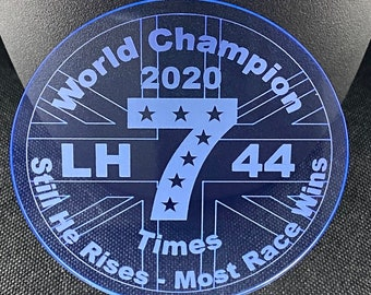 Lewis Hamilton Drinks Coaster 7 time Formula 1 World Champion