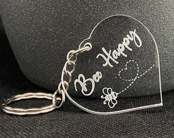 Bee Happy Keyring - New for Spring 2021