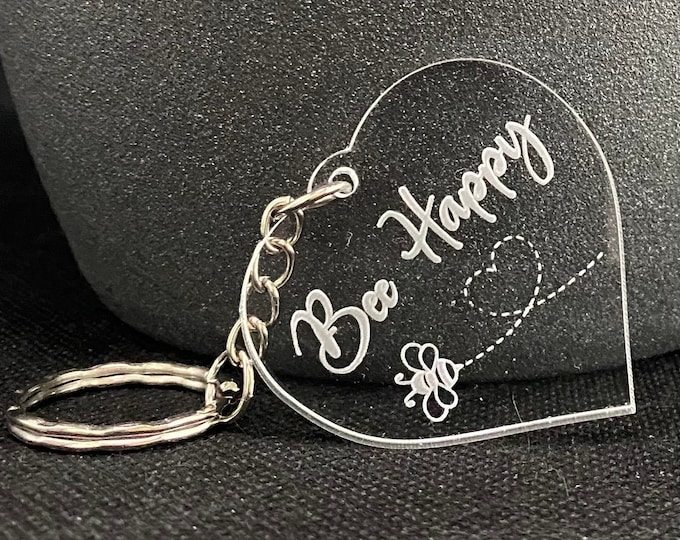 Featured listing image: Bee Happy Keyring - New for Spring 2021