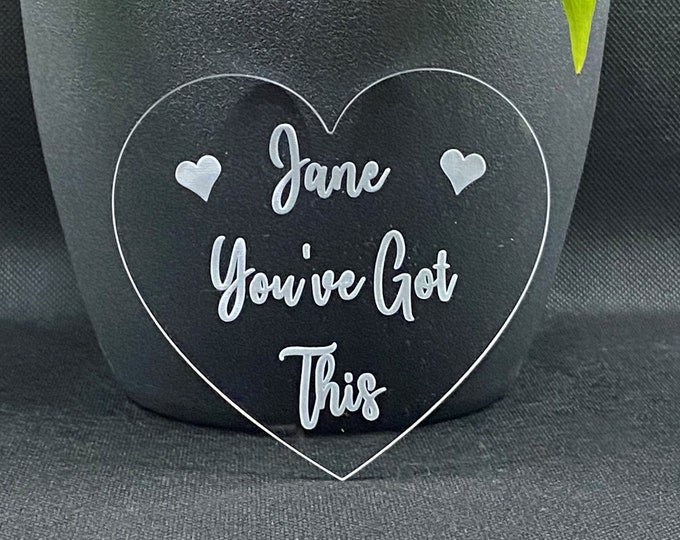 Featured listing image: Personalised You've Got This or You Got This Drinks Coaster